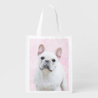 French Bulldog (Cream/White) Reusable Grocery Bag