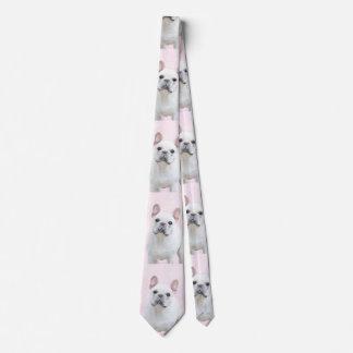 French Bulldog (Cream/White) Tie