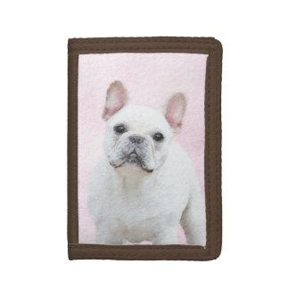 French Bulldog (Cream/White) Trifold Wallet