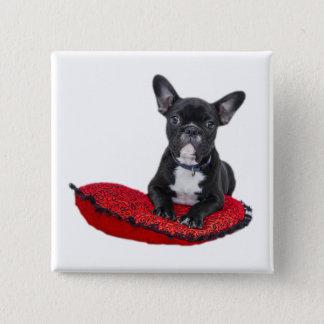 French Bulldog cute button, pin, gift idea 2 Inch Square Button
