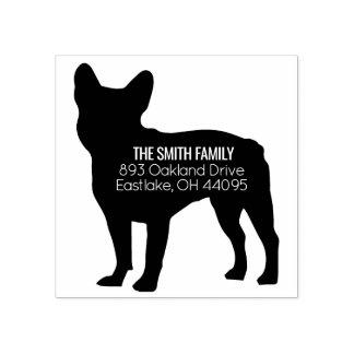 French Bulldog Dog Address Stamp