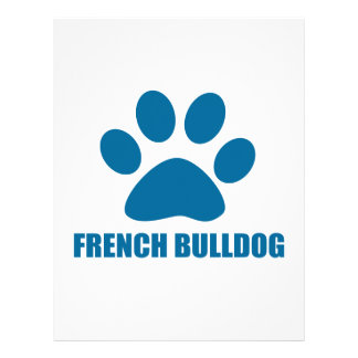 FRENCH BULLDOG DOG DESIGNS LETTERHEAD