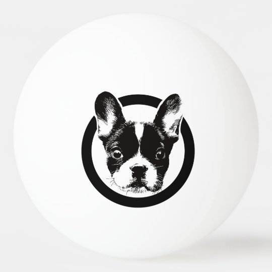 French Bulldog Dog Face Ping Pong Ball