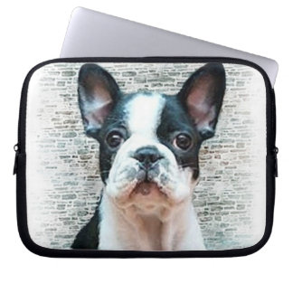 French bulldog dog laptop computer sleeve