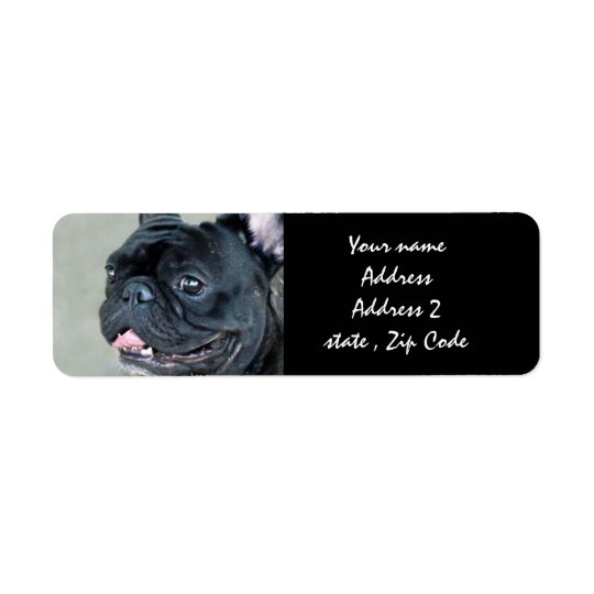 French Bulldog dog Return Address Label