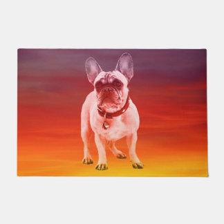 French Bulldog Dog Sitting On Beach Doormat