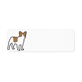 french bulldog fawn and white silo return address label