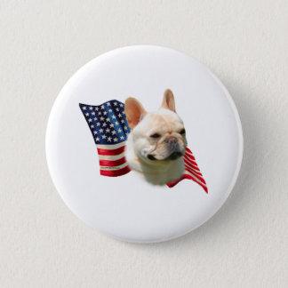 French Bulldog Flag 2 Inch Round Button