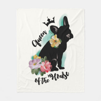 French Bulldog fleece blanket | MEDIUM