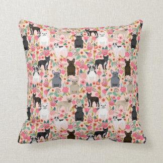French Bulldog Floral Pillow - dog pillow