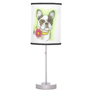 French Bulldog flower collar table lamp