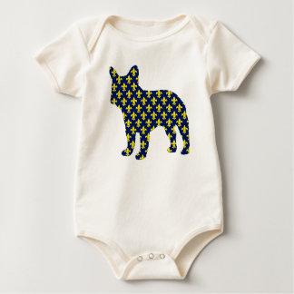 French Bulldog Fluer de Lis Baby Bodysuit