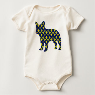 French Bulldog Fluer de Lis Baby Bodysuits