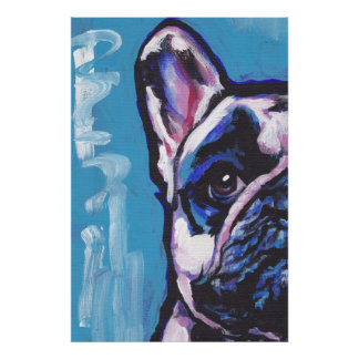 French Bulldog Frenchie Pop Art Poster Print