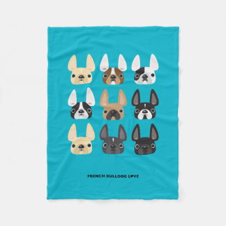 French Bulldog & Friends Fleece Blanket