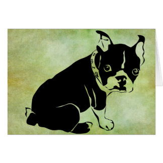 French Bulldog Greeting Card 2