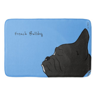 French Bulldog Head Bath Mat