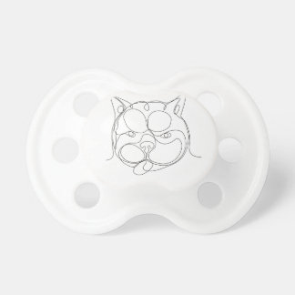 French Bulldog Head Continuous Line Pacifier