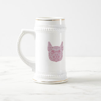 French Bulldog Head Front Mandala Beer Stein