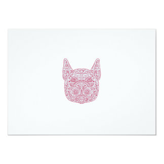 French Bulldog Head Front Mandala Card
