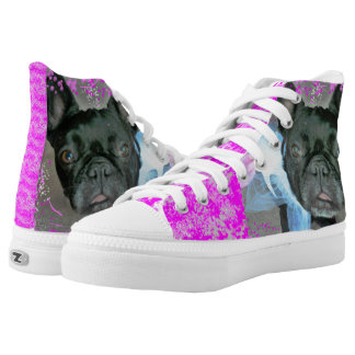 French Bulldog High Top Shoes