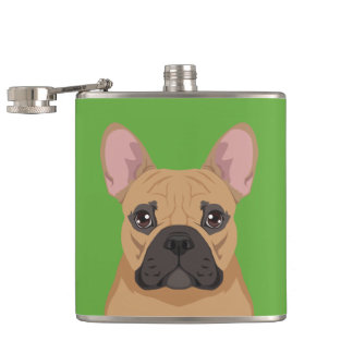 French Bulldog Hip Flask