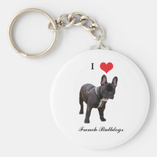 French Bulldog, I love heart, keychain, gift idea Keychain