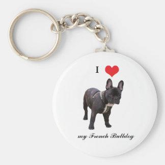 French Bulldog, I love heart, keychain, gift idea Keychain