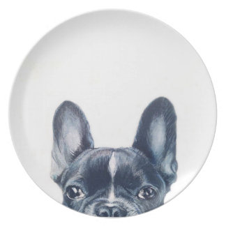 French Bulldog illustration print plate by Miart