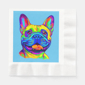 French Bulldog in Color Paper Napkin