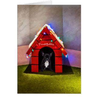French Bulldog in Lighting House Card