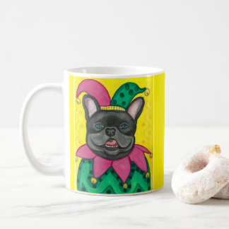 French Bulldog Jester mug