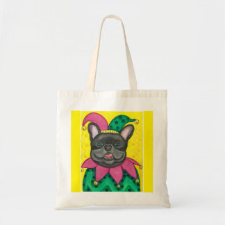 French Bulldog jester tote