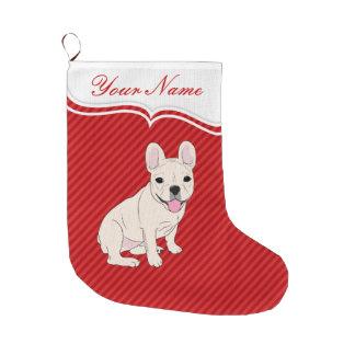 French Bulldog Large Christmas Stocking