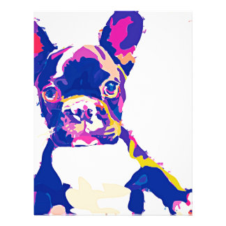French Bulldog Letterhead