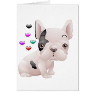 French Bulldog Love Card