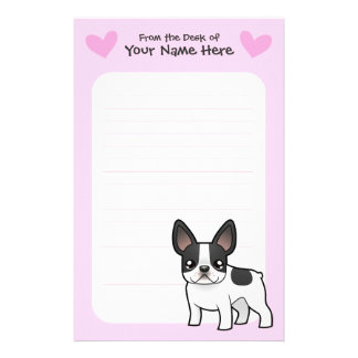 French Bulldog Love Custom Stationery