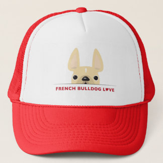 French Bulldog Love Logo Hat