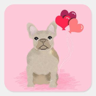 French Bulldog Love Stickers - cute dog