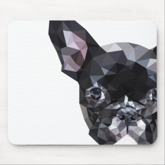 French Bulldog Low Poly Art Mouse Pad