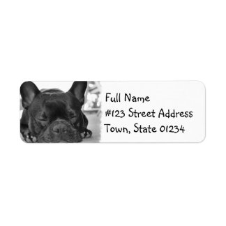 French Bulldog Mailing Label Return Address Label