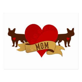 French Bulldog Mom [Tattoo style] Postcard