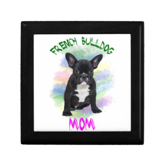 French Bulldog Mom Water Color Oil Painting Art Gift Box