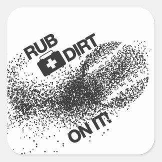 French Bulldog Mugshot Shirt Square Sticker