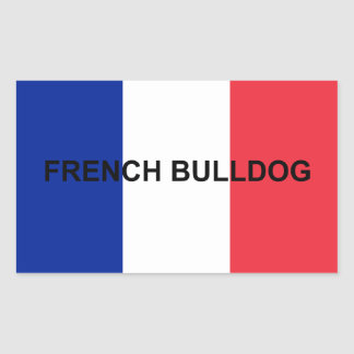 french bulldog name flag sticker