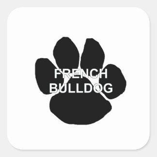french bulldog name mega paw.png square sticker