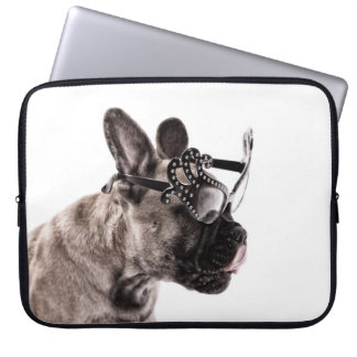 French Bulldog Neoprene Laptop Sleeve 15 inch