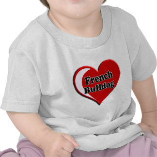 French Bulldog on Heart for dog lovers T Shirt