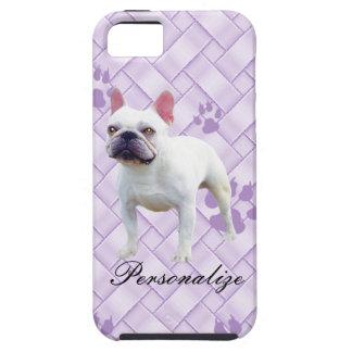 French Bulldog on Lavendar Weave iPhone 5 Case
