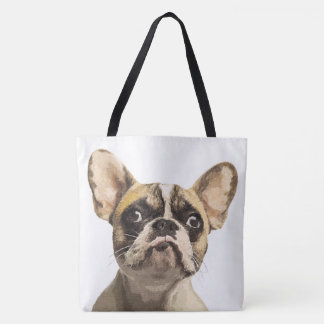 French Bulldog Painted Portrait Tote Bag